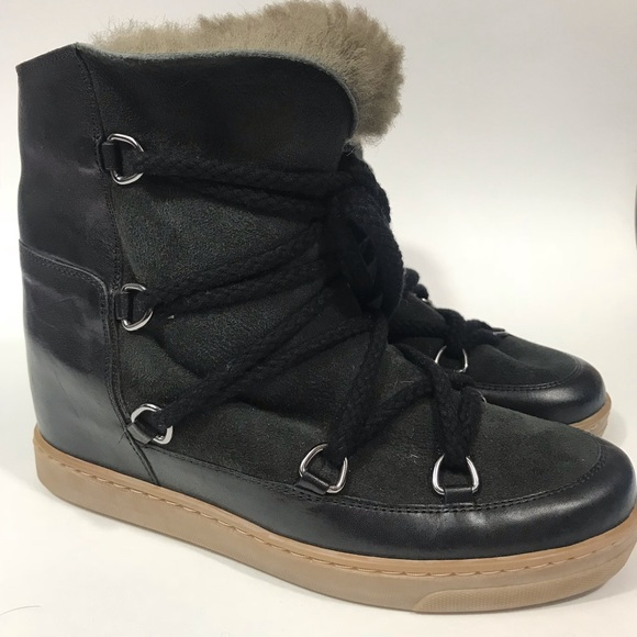 d65c2efaa25 Isabel Marant Shoes - Isabel Marant Nowles Hidden Wedge Boots Black 38